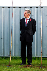 Doug Harman looks on as Representatives of Bristol City take part in a ceremony to plant tree's in memory of the 7 Bristol City player's who lost their lives serving during WW1 - Rogan/JMP - 09/11/2018 - FOOTBALL - Failand Training Ground - Bristol, England.