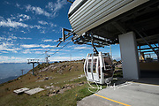 Teleferico Quito, the cable car that tourists can take for an aerial view of Quito, Ecuador.
