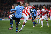 Stoke City forward Bojan Krkic (27)  during the Barclays Premier League match between Stoke City and Tottenham Hotspur at the Britannia Stadium, Stoke-on-Trent, England on 18 April 2016. Photo by Simon Davies.