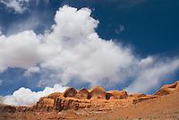 Sandstone and slickrock buttes near Moab Utah