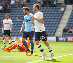 Tom Barkhuizen of Preston North End celebrates scoring his sides first goal - Mandatory by-line: Jack Phillips/JMP - 22/07/2017 - FOOTBALL - Deepdale - Preston, England - Preston North End v Newcastle United - Pre-Season Club Friendly