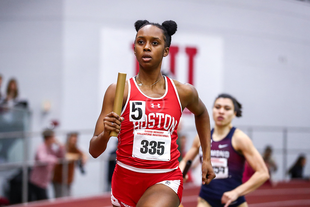 David Hemery Valentine Invitational<br /> Indoor Track & Field at Boston University , womens 4x400 relay, BU,