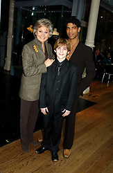 ANGELA RIPPON , dancer CARLOS ACOSTA and LEON COOKE who plays Billy Elliot in the musical Billy Elliot at The Critic's Circle National Dance Awards 2005 held at The Royal Opera House, Covent Garden on 19th January 2006.<br /><br />NON EXCLUSIVE - WORLD RIGHTS