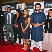 "Hamza Ali Abbasi  attend Photocall in London Premiere of ""Parwaaz Hai Junoon"" (Soaring Passion) as featured on SKY, ITV at The May Fair Hotel, Stratton Street, London, UK. 22 August 2018."