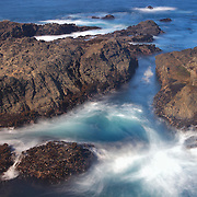 Crashing Waves Over Rocks - Russian Gulch - Mendocino, CA
