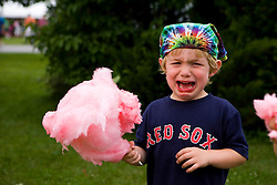 A young boy will not share his cotton candy Vermont USA