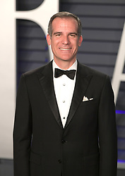 February 24, 2019 - Beverly Hills, California, U.S - Los Angeles Mayor, Eric Garcetti on the red carpet of the 2019 Vanity Fair Oscar Party held at the Wallis Annenberg Center in Beverly Hills, California on Sunday February 24, 2019. JAVIER ROJAS/PI (Credit Image: © Prensa Internacional via ZUMA Wire)