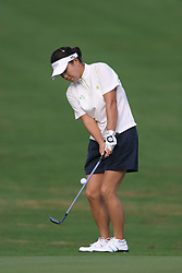 30 Aug 2005<br /> <br /> IL Mi Chung chips up to the 1st green.<br /> <br /> State Farm Classic, LPGA Golf Tournament, Tuesday Practice, The Rail Golf Course, Springfield, IL