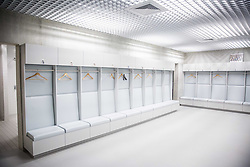 Wardrobe at National football training centre of NZS (Football Association of Slovenia) day before it's opening, on May 5, 2016 in Brdo pri Kranju, Slovenia. Photo by Vid Ponikvar / Sportida
