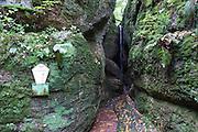 Drachenschlucht, Eisenach, Thüringen, Deutschland   Dragon Gorge, Eisenach, Thuringia, Germany