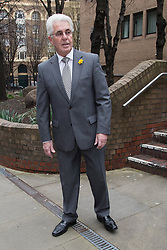 @Licensed to London News Pictures. 11/03/2014. London, UK.  Publicist Max Clifford arrives at Southwark Crown Court in London where he faces charges of indecent assault after being arrested as part of  Operation Yewtree. Photo credit: Vickie Flores/Piqtured/LNP