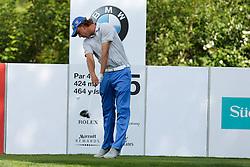 25.06.2015, Golfclub München Eichenried, Muenchen, GER, BMW International Golf Open, im Bild Marcel Siem (GER) am Abschlag, Tee // during the BMW International Golf Open at the Golfclub München Eichenried in Muenchen, Germany on 2015/06/25. EXPA Pictures © 2015, PhotoCredit: EXPA/ Eibner-Pressefoto/ Kolbert<br /> <br /> *****ATTENTION - OUT of GER*****