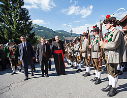 23.08.2015, Alpbach, AUT, Forum Alpbach 2015, Tiroltag, feierliche Eröffnung, im Bild v.l. Südtirols Landeshauptmann Arno Kompatscher (SVP), Tirols Landeshauptmann Günther Platter (ÖVP), Kardinal Christoph Schönborn // f.l.t.r. Arno Kompatscher (Governor of the Autonomous Province of Bolzano) Günther Platter (Governor of the Province of Tyrol) Cardinal Christoph Schönborn during the opening Ceremony of 2015 European Forum Alpbach in Alpbach, Austria on 2015/08/23. EXPA Pictures © 2015, PhotoCredit: EXPA/ Johann Groder