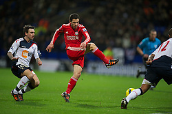 BOLTON, ENGLAND - Saturday, January 21, 2011: Liverpool's Maximiliano Ruben Maxi Rodriguez in action against Bolton Wanderers during the Premiership match at the Reebok Stadium. (Pic by David Rawcliffe/Propaganda)