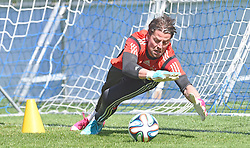 24.05.2014, Sportplatz, St. Martin Passeiertal, ITA, FIFA WM, Vorbereitung Deutschland, im Bild Roman Weidenfeller (Borussia Dortmund) // during Trainingscamp of Team Germany for Preparation of the FIFA Worldcup Brasil 2014 at the Sportplatz in St. Martin Passeiertal, Italy on 2014/05/24. EXPA Pictures © 2014, PhotoCredit: EXPA/ Eibner-Pressefoto/ DFB-Pool<br /> <br /> *****ATTENTION - OUT of GER*****