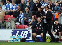 Photo: Sportsbeat Images.<br />Wigan Athletic v Fulham. The FA Barclays Premiership. 15/09/2007.<br />Fulham boss Lawrie Sanchez