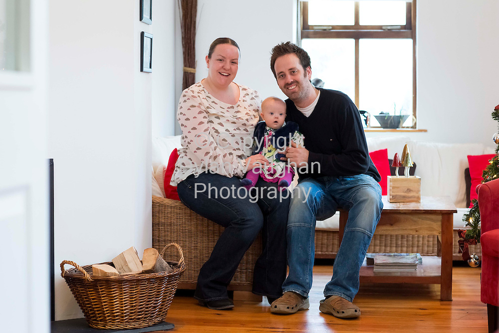 4/1/2012.Billy Whitty and Joanne Harding pictured with baby Kaitlin aged 8 months at Aldridge Lodge in Duncannon Co. Wexford..Picture Dylan Vaughan.