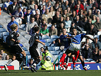 Photo: Lee Earle.<br /> Portsmouth v Blackburn Rovers. The Barclays Premiership. 08/04/2006. Pompey's Lomana Lua Lua (R) scores his first half goal.