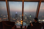China, Shanghai. elevated view on the city from the hotel meridien