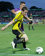 Wellington Phoenix's Chris Greenacre attacks the ball against Perth Glory during the A-Leagues minor semi final held at nib Stadium, Perth, Australia on Saturday 7 April 2012. Photo Theron Kirkman / Photosport.co.nz