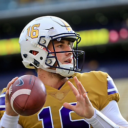 Sep 17, 2016; Baton Rouge, LA, USA;  LSU Tigers quarterback Danny Etling (16) before a game against the Mississippi State Bulldogs at Tiger Stadium. Mandatory Credit: Derick E. Hingle-USA TODAY Sports
