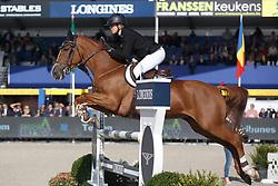 Patteet Gudrun, (BEL), Casino Royal Waterschoot Z <br /> 5 years of age<br /> FEI World Breeding Jumping Championships<br /> Lanaken 2015<br /> © Hippo Foto - Dirk Caremans<br /> 20/09/15