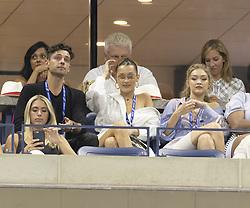 September 4, 2018 - New York, New York, United States - Bella Hadid & Gigi Hadid attend US Open 2018 quarterfinal match between Serena Williams of USA & Karolina Pliskova of Czech Republic at USTA Billie Jean King National Tennis Center (Credit Image: © Lev Radin/Pacific Press via ZUMA Wire)