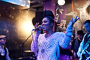 Frankfurt am Main | 19 Dec 2013<br /> <br /> Rola &amp; Alive Band live im Travolta in der Br&ouml;nnerstra&szlig;e in Frankfurt am Main, hier: Rola singt.<br /> <br /> &copy;peter-juelich.com<br /> <br /> [No Model Release | No Property Release]