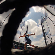 Robert Harting, Germany, in action while winning the Men's Discus Throw during the Diamond League Adidas Grand Prix at Icahn Stadium, Randall's Island, Manhattan, New York, USA. 14th June 2014. Photo Tim Clayton