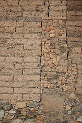 """Wall 4"" - This old brick and rock wall was photographed in the small mountain town of San Sebastian, Mexico."