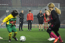 Bristol City Scholars overlook the Bristol Sport Schools Cup completion being played at Ashton Gate - Photo mandatory by-line: Dougie Allward/JMP - Mobile: 07966 386802 - 19/03/2015 - SPORT - Football - Bristol - Ashton Gate - Bristol Sport Schools Cup