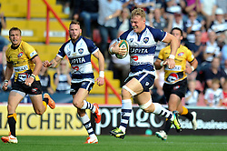 Mitch Eadie of Bristol Rugby runs in a try - Photo mandatory by-line: Patrick Khachfe/JMP - Mobile: 07966 386802 21/09/2014 - SPORT - RUGBY UNION - Bristol - Ashton Gate - Bristol Rugby v Cornish Pirates - GK IPA Championship.