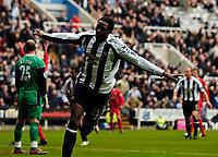Photo: Jed Wee.<br /> Newcastle United v Liverpool. The Barclays Premiership. 19/03/2006.<br /> <br /> Newcastle's Shola Ameobi celebrates his goal.