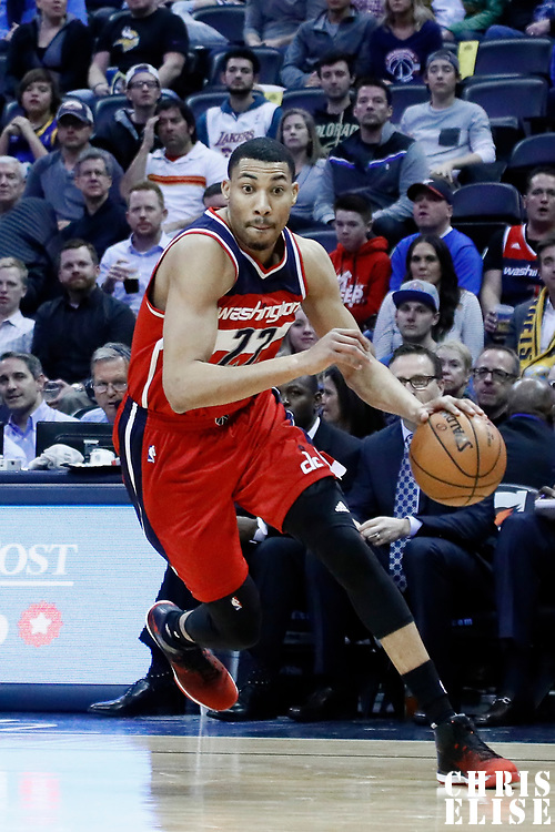 08 March 2017: Washington Wizards forward Otto Porter Jr. (22) drives during the Washington Wizards 123-113 victory over the Denver Nuggets, at the Pepsi Center, Denver, Colorado, USA.