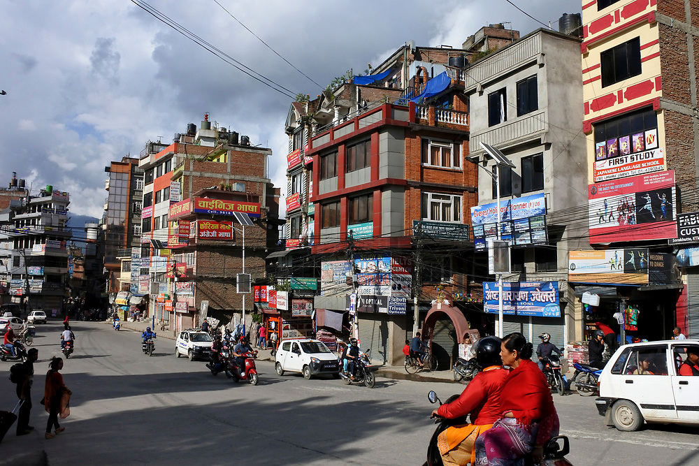 Main Road through Kathmandu