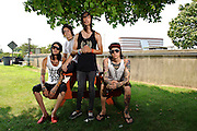 Pierce The Veil photographed backstage on Warped Tour at Nassau Coliseum, NYC. July 17, 2010. Copyright © 2010 Matt Eisman. All Rights Reserved.