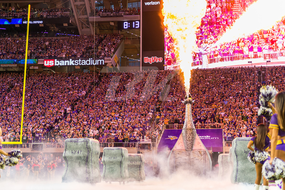 Minnesota Vikings vs. Green Bay Packers on September 18, 2016 at U.S. Bank Stadium in Minneapolis, Minnesota.  This was the inaugural game at U.S. Bank Stadium.  Photo by Ben Krause/Minnesota Vikings