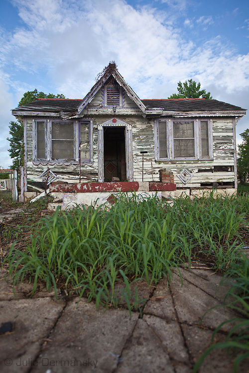 Home blighted by Hurricane Katrina.