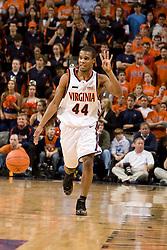 Virginia guard Sean Singletary (44).  The Virginia Cavaliers men's basketball team fell to the #3 ranked North Carolina Tar Heels 75-74 at the John Paul Jones Arena in Charlottesville, VA on February 12, 2008.