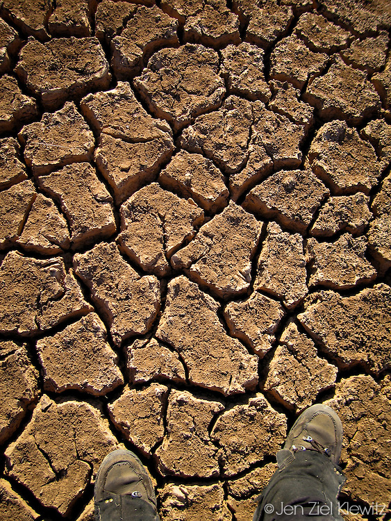 Dry, cracked river bed, the Kimberly, Australia. Photo by Jen Klewitz