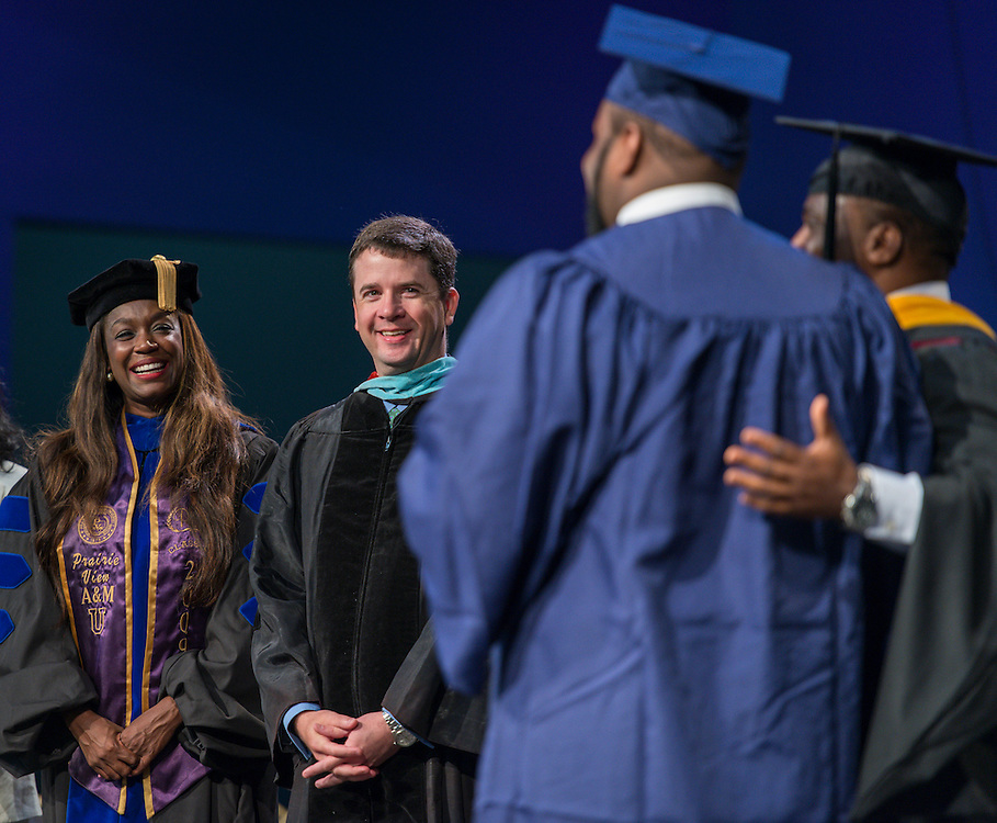The first ever graduation for Mickey Leland College Preparatory Academy, May 27, 2015.