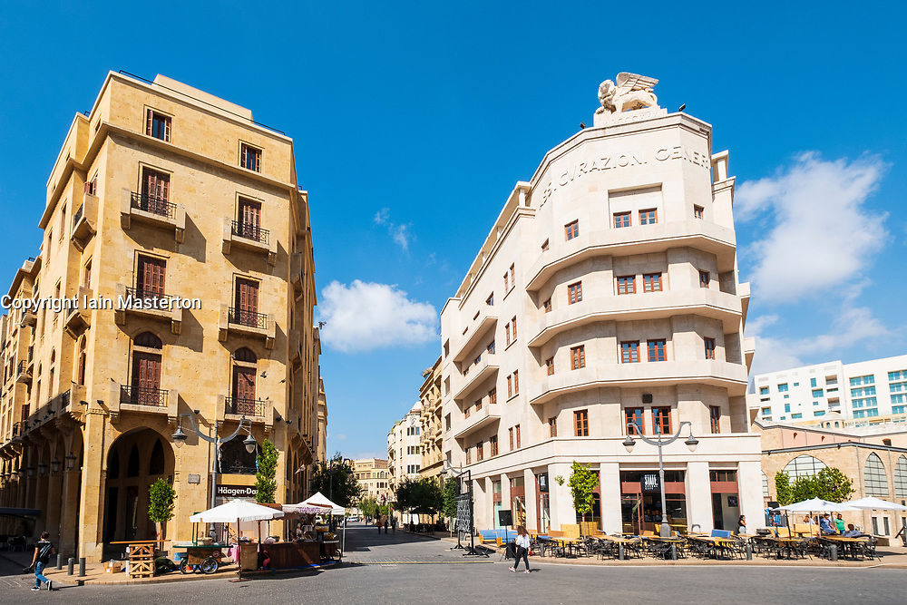 Colonial Art Deco architecture in Place d'Etoile Downtown Beirut, Lebanon
