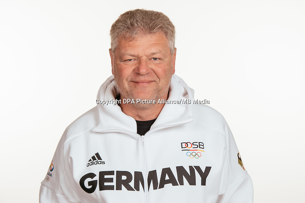 Sven Lang poses at a photocall during the preparations for the Olympic Games in Rio at the Emmich Cambrai Barracks in Hanover, Germany, taken on 15/07/16 | usage worldwide