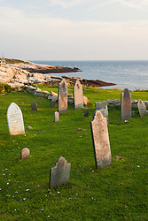The cemetery on Star Island, Rye, New Hampshire. Isles of Shoals.
