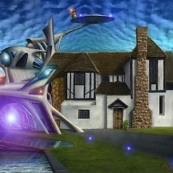 Futuristic adaptation of historic house