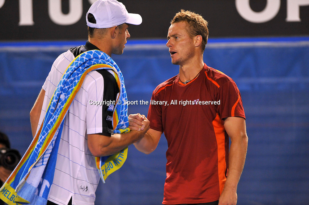 Andy Roddick (USA) retires<br /> vs Lleyton Hewitt (AUS)<br /> 2012 Australian Open Tennis<br /> Melbourne, Victoria<br /> Thursday January 19th 2012<br /> &copy; Sport the library / Jeff Crow