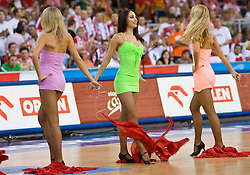 Cheerleaders Red Foxes of Ukraine during the EuroBasket 2009 Group F match between Poland and Spain, on September 16, 2009 in Arena Lodz, Hala Sportowa, Lodz, Poland.  (Photo by Vid Ponikvar / Sportida)