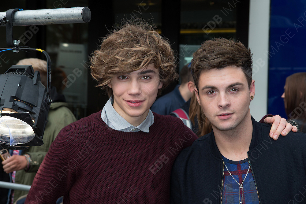 14.OCTOBER.2013. LONDON<br /> <br /> (CODE-AFI)<br /> GEORGE SHELLEY AND JAYMI HENSLEY OF UNION J LEAVING CAPITAL RADIO, LONDON<br /> <br /> BYLINE: EDBIMAGEARCHIVE.CO.UK<br /> <br /> *THIS IMAGE IS STRICTLY FOR UK NEWSPAPERS AND MAGAZINES ONLY*<br /> *FOR WORLD WIDE SALES AND WEB USE PLEASE CONTACT EDBIMAGEARCHIVE - 0208 954 5968*