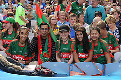 The Banerjee family from Castlebar supporting Mayo at Croke park for the All Ireland quarter final replay.<br /> Pic Conor McKeown