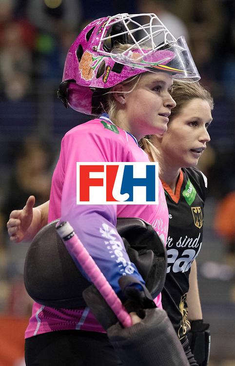BERLIN - Indoor Hockey World Cup<br /> Women: Germany  - Australia<br /> foto: Julia Ciupka and Luisa Steindor.<br /> WORLDSPORTPICS COPYRIGHT FRANK UIJLENBROEK